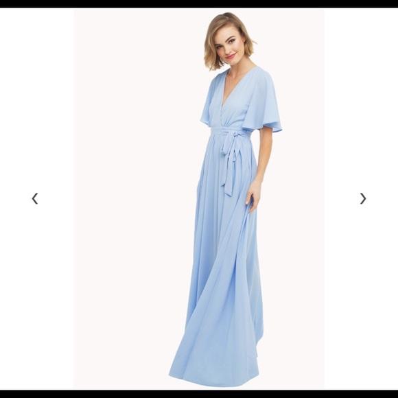 51fd7df591e8 AKIRA Dresses & Skirts - Akira Chicago Red Label Maxi Faux Wrap Dress Blue